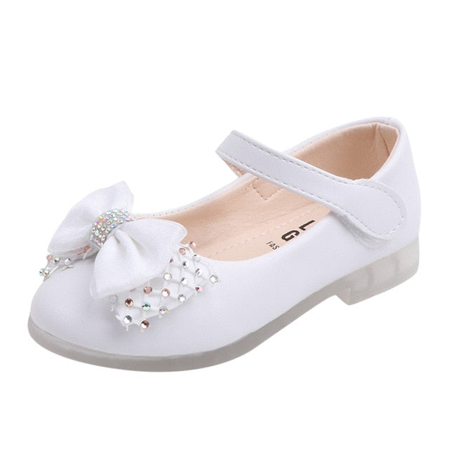 Crystal Bow-knot Girls Shoes