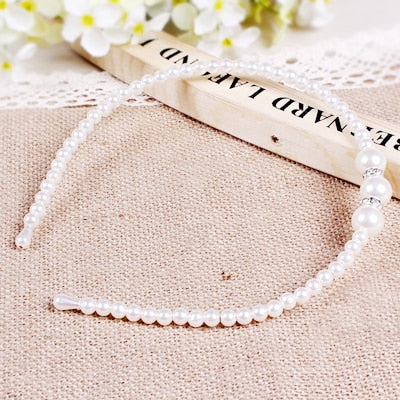 Girls Pearl and Rhinestone Formal Headbands