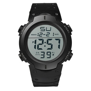 Boys LCD Digital Date/Day/Stopwatch Rubber Sports Watch