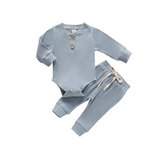 2Pcs Baby/Toddler Boy Solid Color Outfit