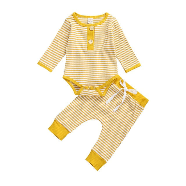 Relax Fit Striped Baby Boy 2pc Outfit