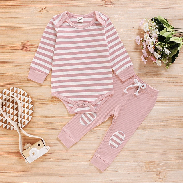 Baby Girl 2pc Striped Outfit
