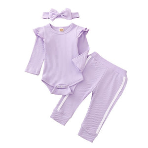 3pcs Toddler Baby Girl Sporty Outfit