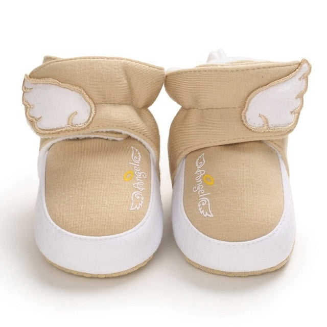 Cashmere High-Top Angel Wings Soft Sole Booties for Boys & Girls