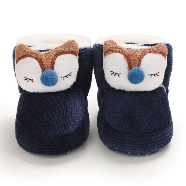 Cute Winter Warm Baby Animal/Christmas Themed Soft Sole Boots for Infant/Toddler Boys & Girls