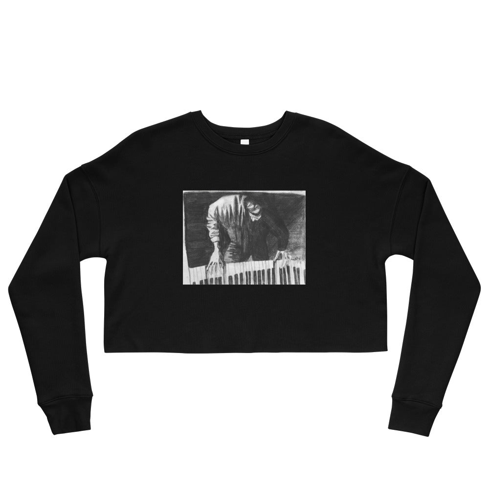 Piano Player Crop Sweatshirt