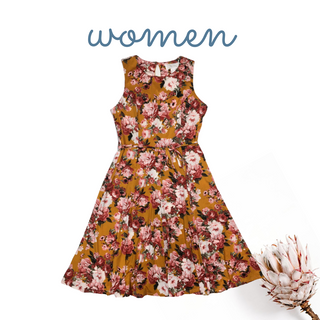 Beautiful Orange Floral Dress
