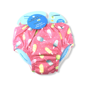 Baby Pink with Popsicles Reusable Swim Diaper - Crabapple