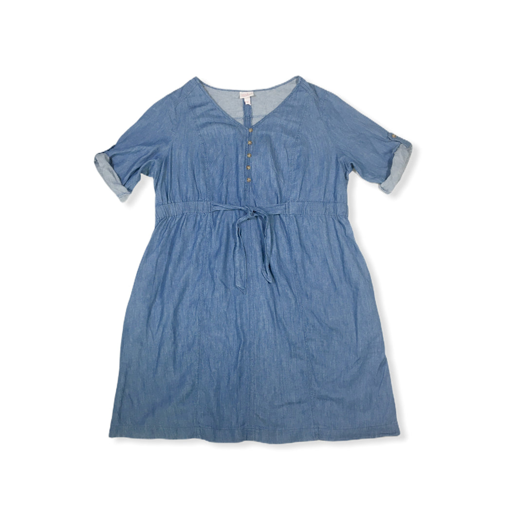 Women's Maternity Denim Shirt Dress - Crabapple