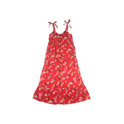 Women's Maternity Red Floral Sleeveless Dress - Crabapple