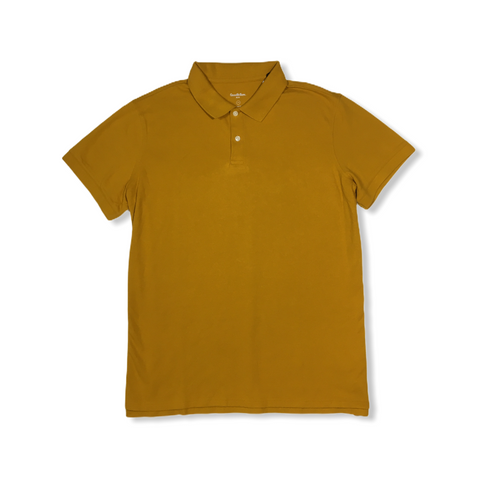 Men's Mustard Short Sleeve Polo - Crabapple