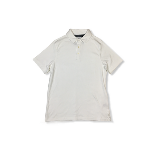 Men's White Short Sleeve Polo - Crabapple