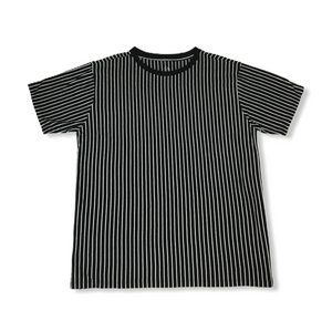 Men's Black and White Striped T-Shirt - Crabapple
