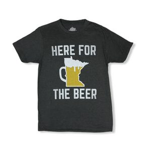"Men's ""Here for the Beer"" T-Shirt - Crabapple"