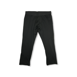 Men's Charcoal with Olive Tint Cropped Compression Pants - Crabapple