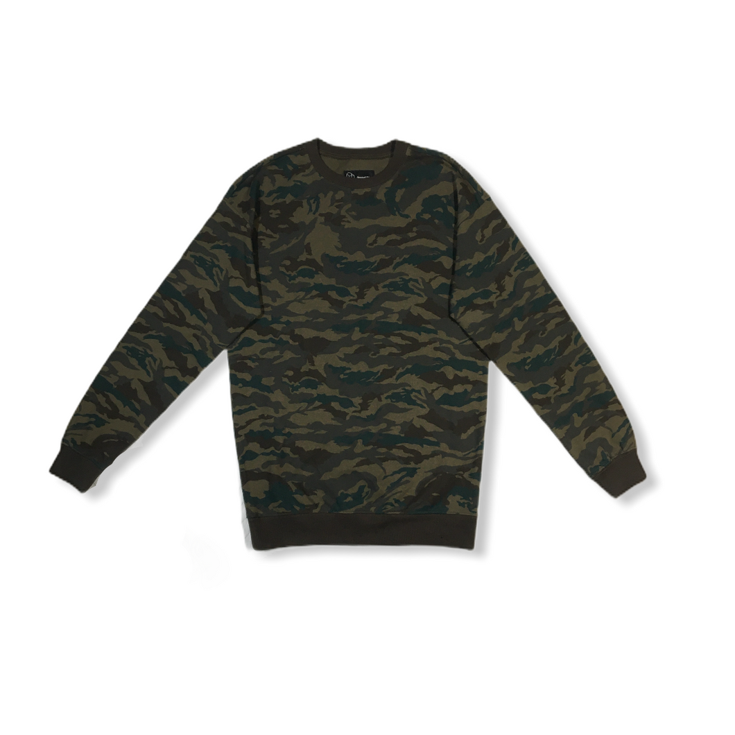 Men's Camo Sweatshirt - Crabapple