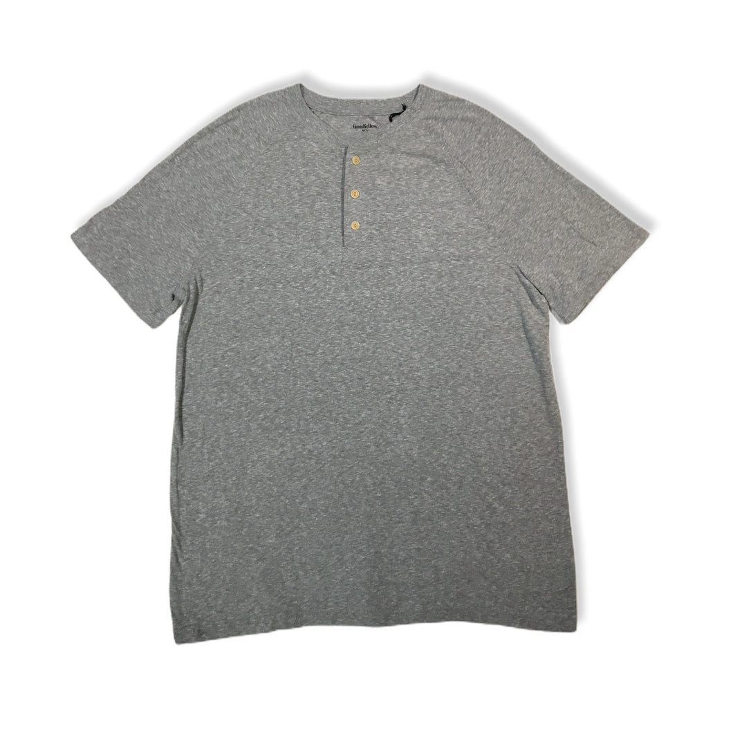 Men's Cement Grey Short Sleeve with Buttons - Crabapple