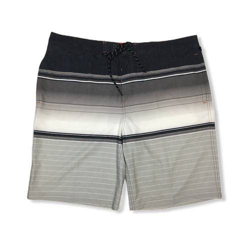 Men's Grey with Stripes Board Shorts - Crabapple