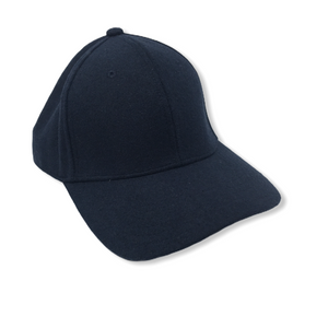 Navy Hat with Faux Leather Adjustable Strap - Crabapple