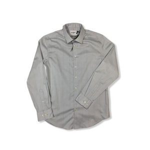 Men's Grey Mist Standard Fit Button Down Dress Shirt - Crabapple