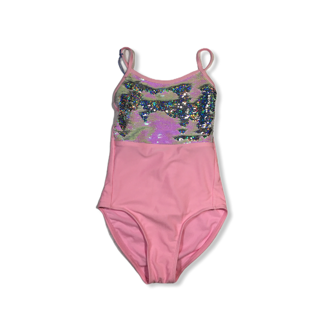 Girls' Pink Flip Sequins (Pink/Silver) One Piece Swimsuit - Crabapple