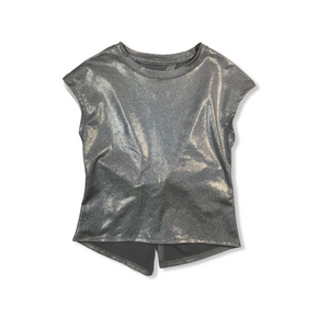 Girls' Foil Top with Twist Open Back - Crabapple
