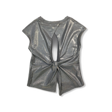 Load image into Gallery viewer, Girls' Foil Top with Twist Open Back - Crabapple