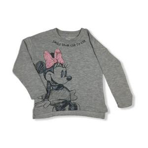 Toddler Minnie Mouse Smile Lightweight Sweatshirt - Crabapple