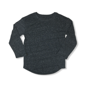 Toddler Charcoal Speckled Long Sleeve Shirt - Crabapple
