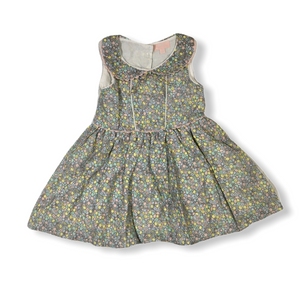 Toddler Floral A-Line Dress with Collar - Crabapple