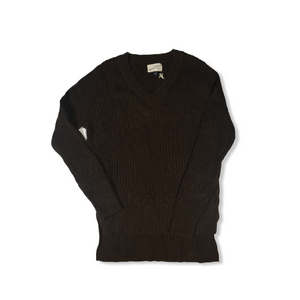 Women's Brown Cable Knit Sweater - Crabapple
