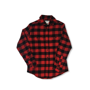 Men's Red and Black Buffalo Plaid Flannel Button Down - Crabapple