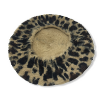Load image into Gallery viewer, Women's Leopard Beret - Crabapple