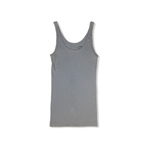 Women's Baby Blue Light Ribbed Tank made of 50% Pima Cotton and 50% Modal - Crabapple