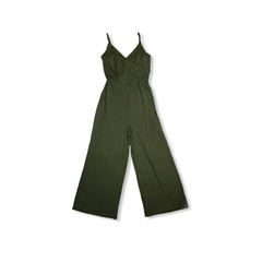 Pretty olive green wide legged jumpsuit