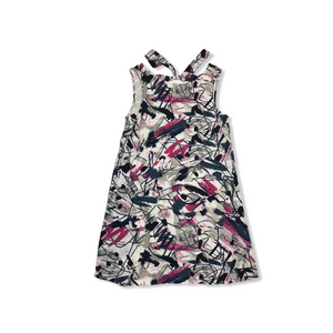 Women's Multi Colored Printed Sleeveless Dress - Crabapple