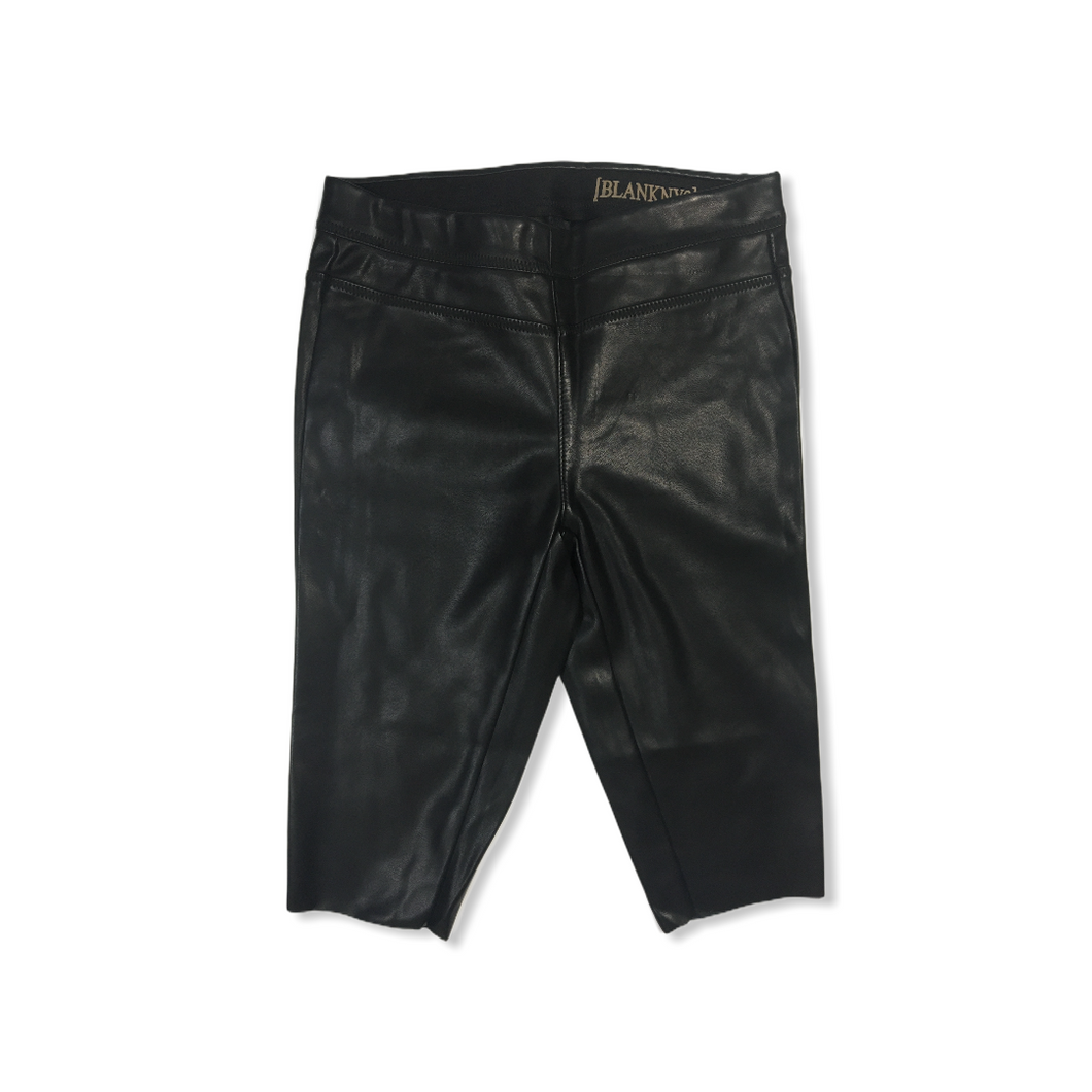 Women's Black Vegan Leather Bike Shorts - Crabapple