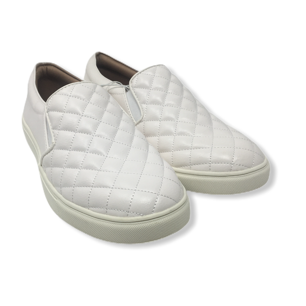 Women's White Quilted Loafer - Crabapple