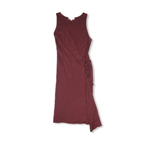 Women's Rusty Rose Asymmetrical Tank Dress - Crabapple