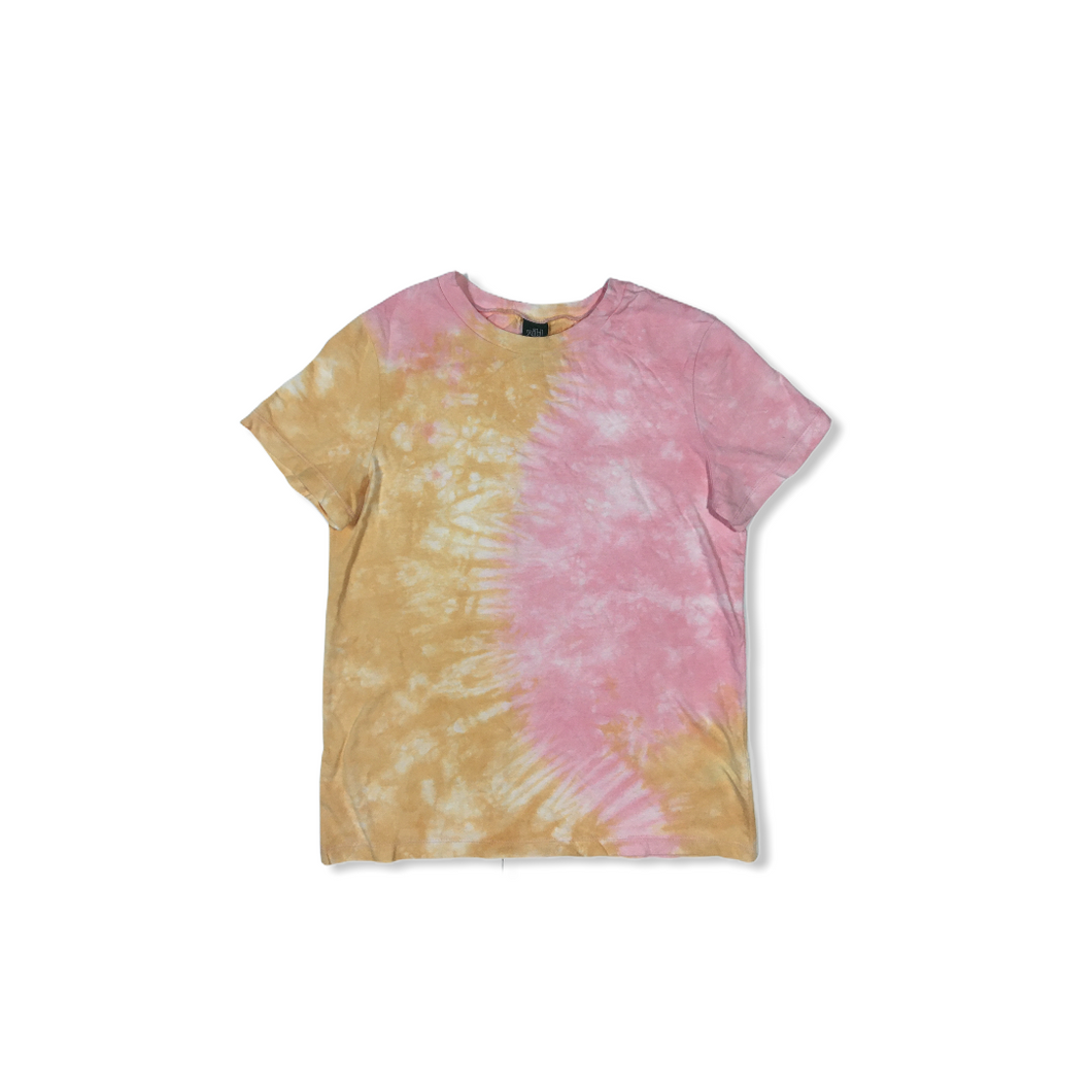 Women's Pink and Orange Tie Dyed T-Shirt - Crabapple