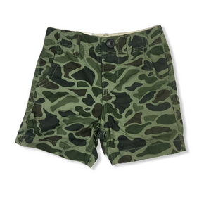 Toddler Camo Shorts with Adjustable Waist - Crabapple