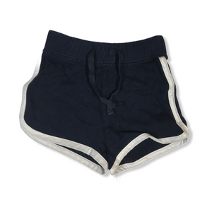 Toddler Navy with White Sport Stripe Shorts - Crabapple