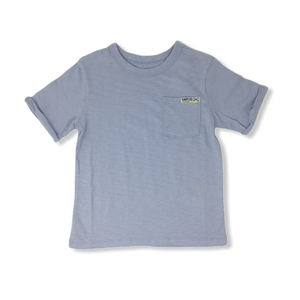 Toddler Baby Blue Cuffed Sleeve with Pocket Tee - Crabapple