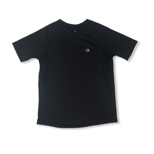 Boys' Black Moisture Wicking Trainer Tee with Mesh Panels - Crabapple