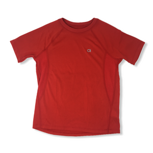Boys' Red Moisture Wicking Trainer Tee with Mesh Panels - Crabapple