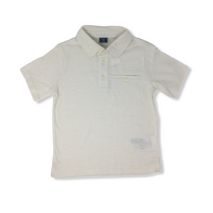 Toddler Linen Polo with Pocket - Crabapple