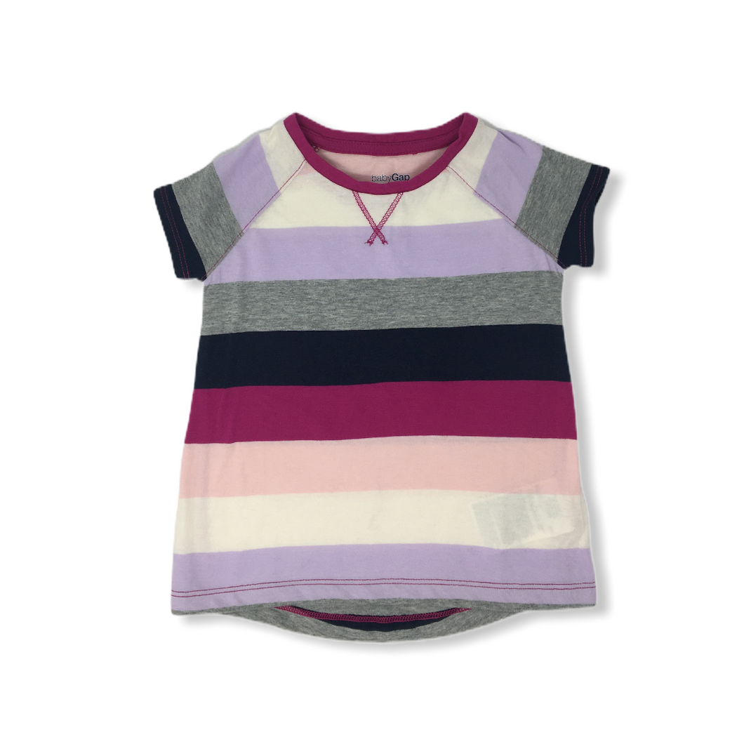 Toddler Color Block Striped Tee - Crabapple