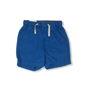 Toddler Blue Pull-On Shorts - Crabapple