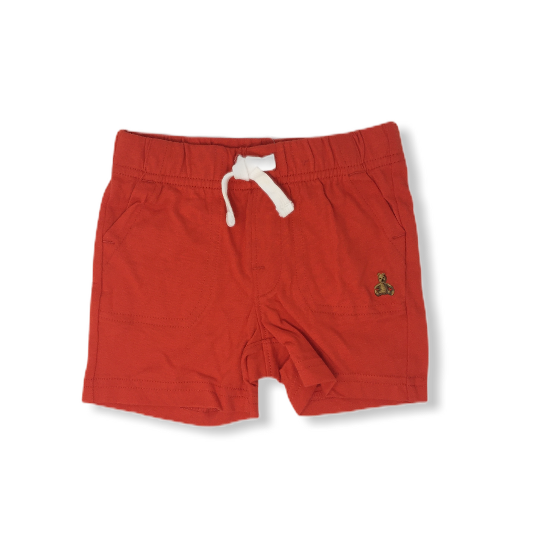 Baby Red Shorts with Brannan Bear - Crabapple