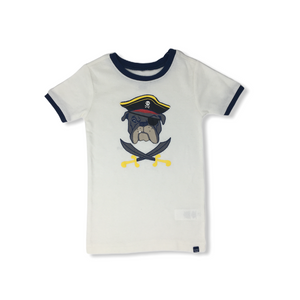 Toddler Bulldog Pirate Sleep Shirt - Crabapple